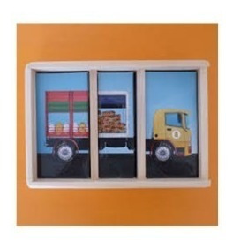 acopladitos caja d madera puzzle rompecabezas  17x24 cm clap