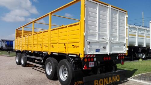acoplado 4 ejes barandas volcables bonano 52,5 tn 0km