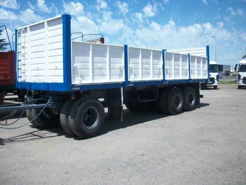 acoplado astivia 94/3 ejes, baranda volcable cerealero 8,70