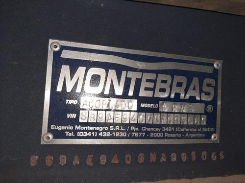 acoplado baranda volcable montebras 2018 9,30 mts. sin rodar