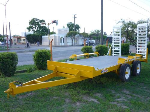 acoplado carreton trailer bobcat palas elevador auxilio