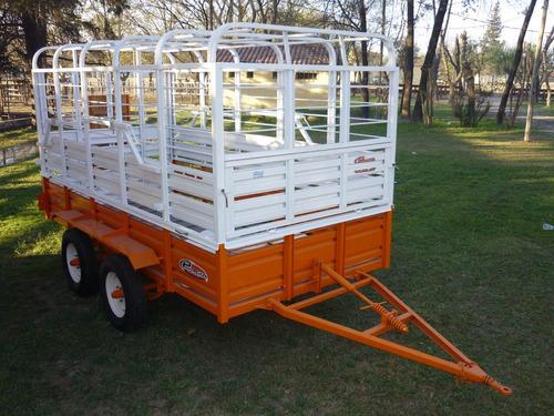 acoplado carro vaquero iva incluido trailer ganadero jaula