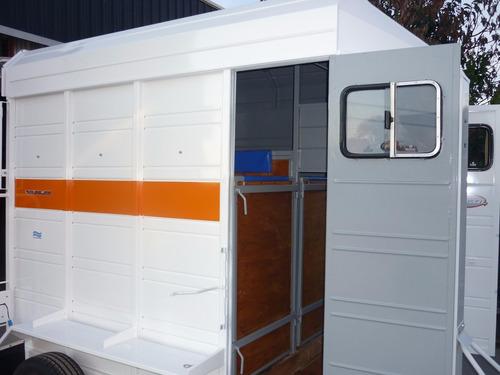 acoplado cerrado carro trailer 2 caballos iva incluido