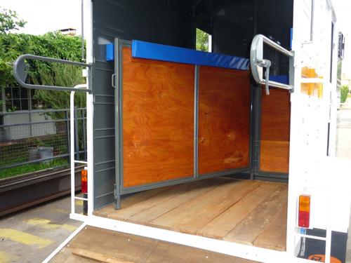 acoplado cerrado trailer 2 caballos envíos a domicilio
