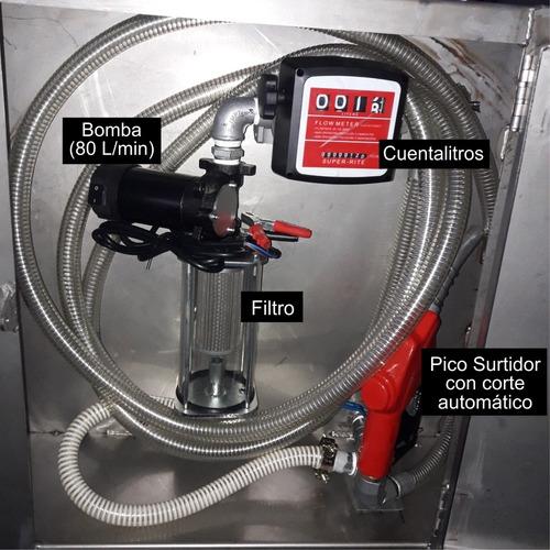 acoplado cisterna p combustible de acero inoxidable 850l