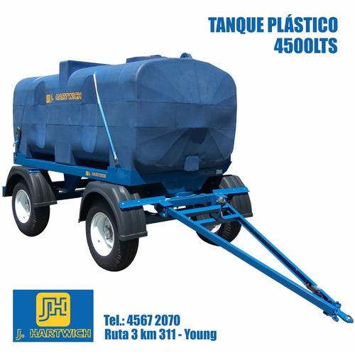 acoplado cisterna tanque plástico 4500 lts j. hartwich