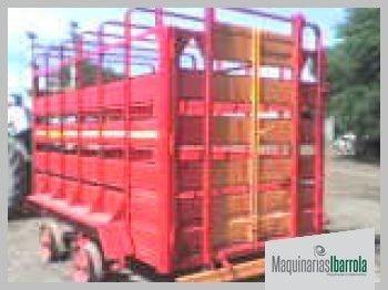 acoplado de hacienda ambroggio de 3 tt y 3,3 mts jaula