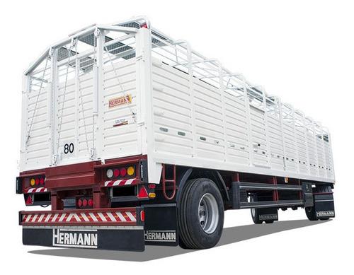 acoplado ganadero hermann 0 km. de 10,50 mts.
