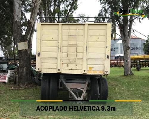 acoplado helvetica 3 ejes 9,3m con cubiertas y lona