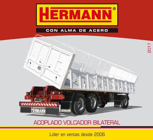 acoplado hermann 4 ejes volcador bilateral anticipo+financ.