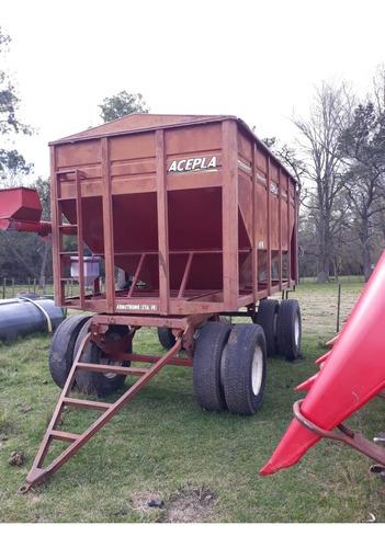 acoplado para semillas y fertilizantes usado marca  acepla