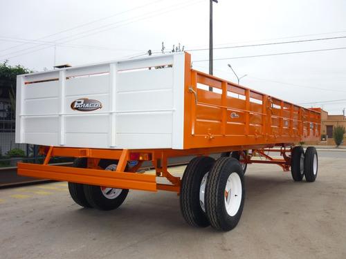 acoplado playo carga 6 x 2.10 carro trailer financiado