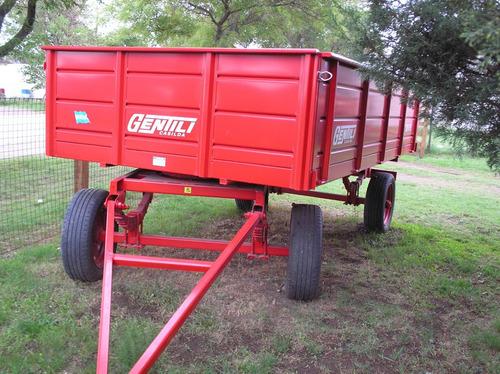 acoplado rural playo gentili  2 ejes 4x2,1 mts sin cubiertas