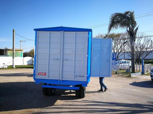 acoplado taller rodante trailer cerrado obrador 4 y 5 metros