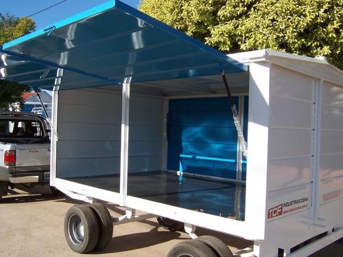acoplado taller rodante trailer cerrado obrador modelo 3000