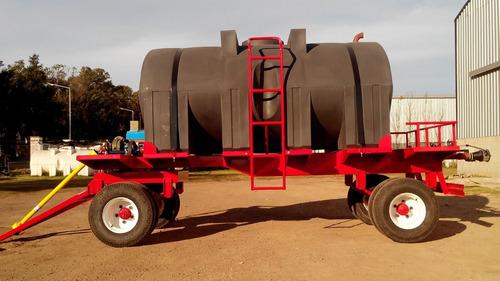 acoplado tanque 8000lts con equipo de riego