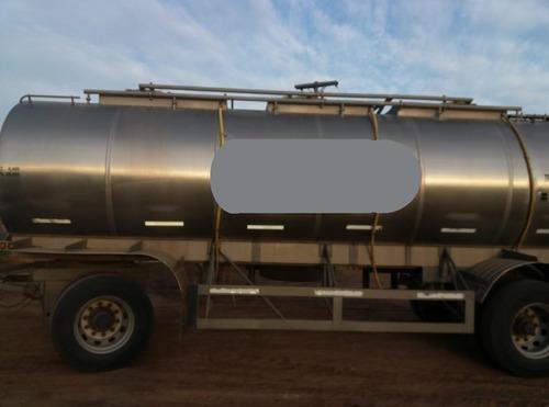 acoplado tanque de acero inoxidable termico de 2 ejes