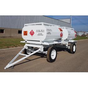Acoplado Tanque De Combustible Chapa 1500 Litros + 1500 Lts
