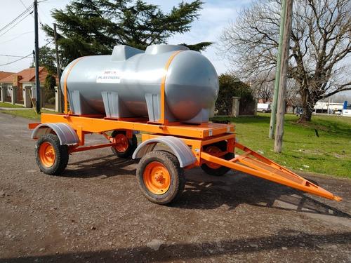 acoplado tanque plastrong de 3400 lts, oval, de 2 ejes