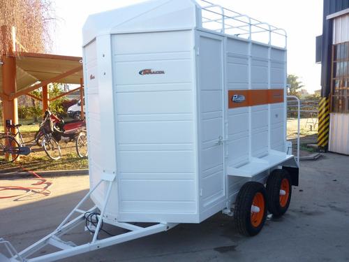 acoplado trailer 2 caballos iva incluido carro equinos