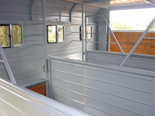 acoplado trailer 4 caballos carro cerrado polo equinos