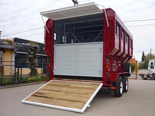 acoplado trailer 4 caballos iva incluido carro polo equino