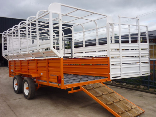 acoplado trailer 7 caballos iva incluido carro jaula equinos