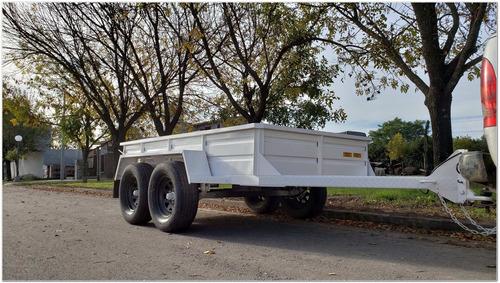 acoplado trailer balancin 3 mts. dos ejes 2.8 tn (pl1023)