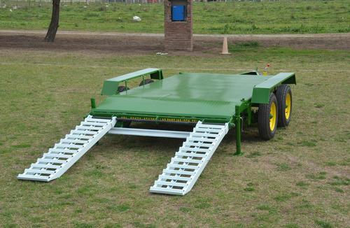 acoplado trailer balancin con rampas capacidad 6 tt.