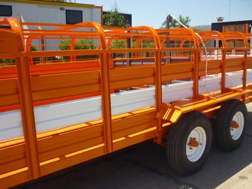 acoplado trailer cerdos 34 capones carro jaula financiado