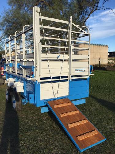 acoplado trailer multipropósito hacienda mixto caballos