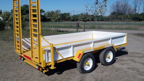 acoplado trailer para minicargador , bobcat materiales