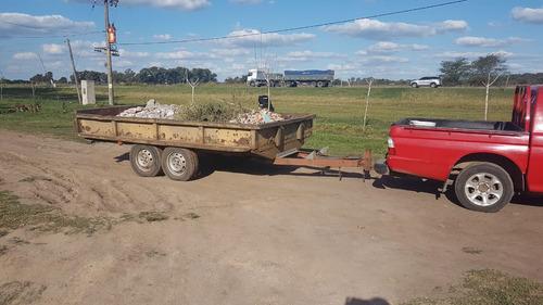 acoplado trailer playo doble eje