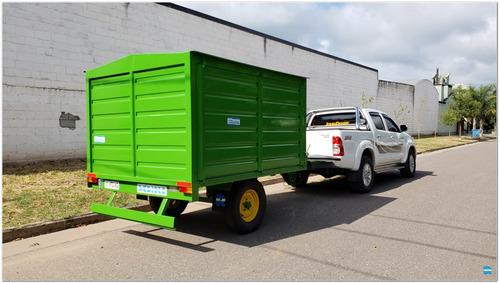 acoplado trailer taller rodante para 800/1.000 kg. (ta1009)