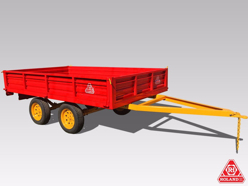 acoplado vehicular roland h2000b kg, carro 2 ejes balancin