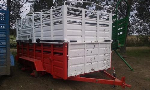 acoplados carros jaula tipo vaquero