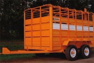 acoplados jaula  2 ejes- transporte de hacienda