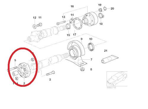 acoplamento do cardan bmw 118i 2004 a 2015 original