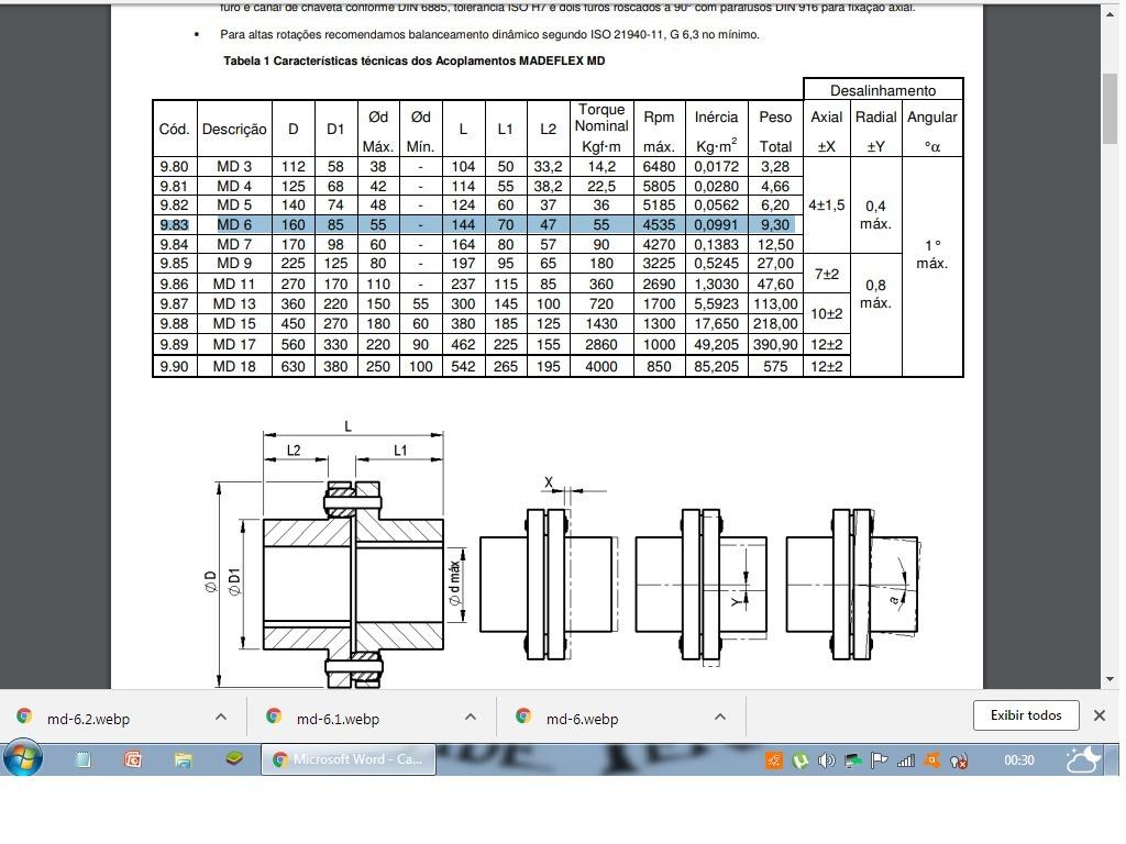 Acoplamento Madeflex Md 6 R 31190 Em Mercado Livre Md6 Wiring Diagram Carregando Zoom
