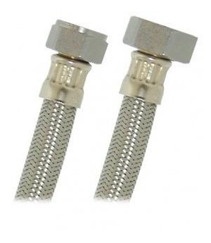 acople 1/2x3/4 60 cms acero inox para calentador coflex