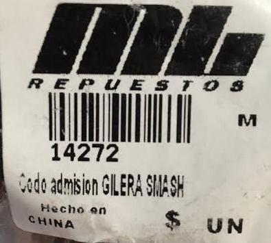 acople admision gilera smash  - um