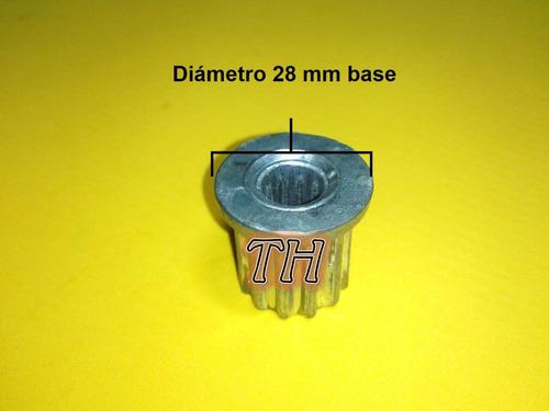 acople buje lavadora eje cuadrado 12 diente externos