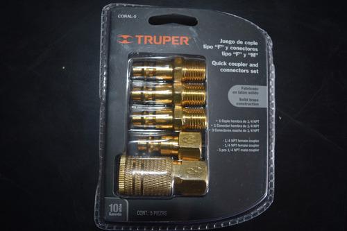 acople conector rapido truper exelente calidad