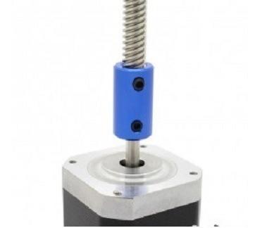 acople de aluminio rigido 5mm a m8 impresora 3d reprap prusa