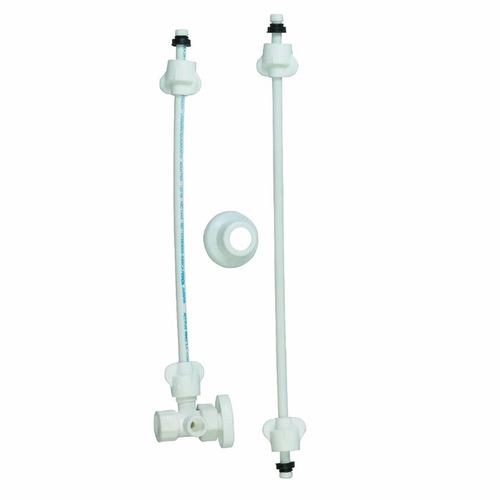 acople para sanitario plástico con válvula de control