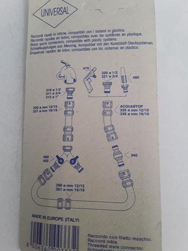 acople  rapido de rosca macho 3/4 conexion 1/2