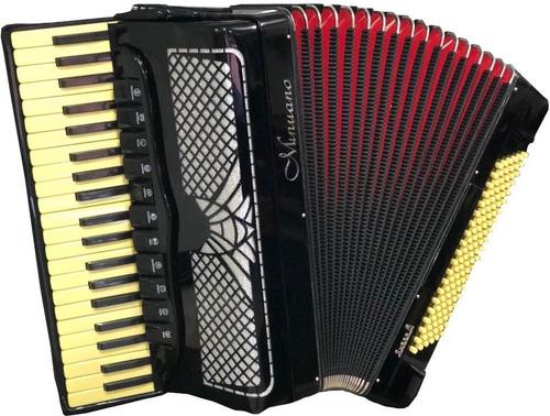 acordeon 120 baixos minuano super 8 120/41 preto