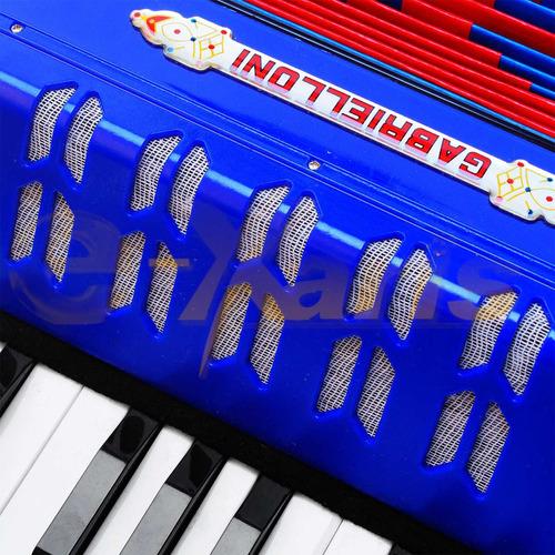 acordeon 17 teclas doble nota y 8 bajos para toda la familia