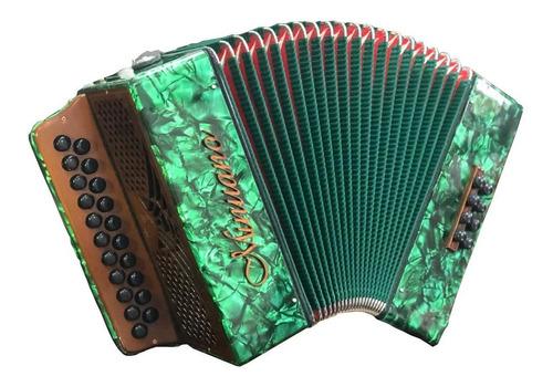 acordeon 8 baixos minuano 8/21 verde musicamento italiano