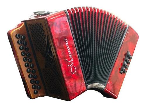 acordeon 8 baixos minuano 8/21 vermelha musicamento italiano